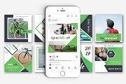 Green Discount Social Media Pack