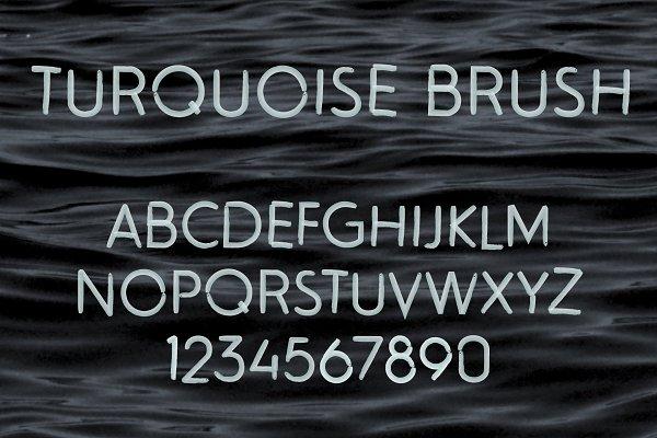 Turquoise Brush SVG Font