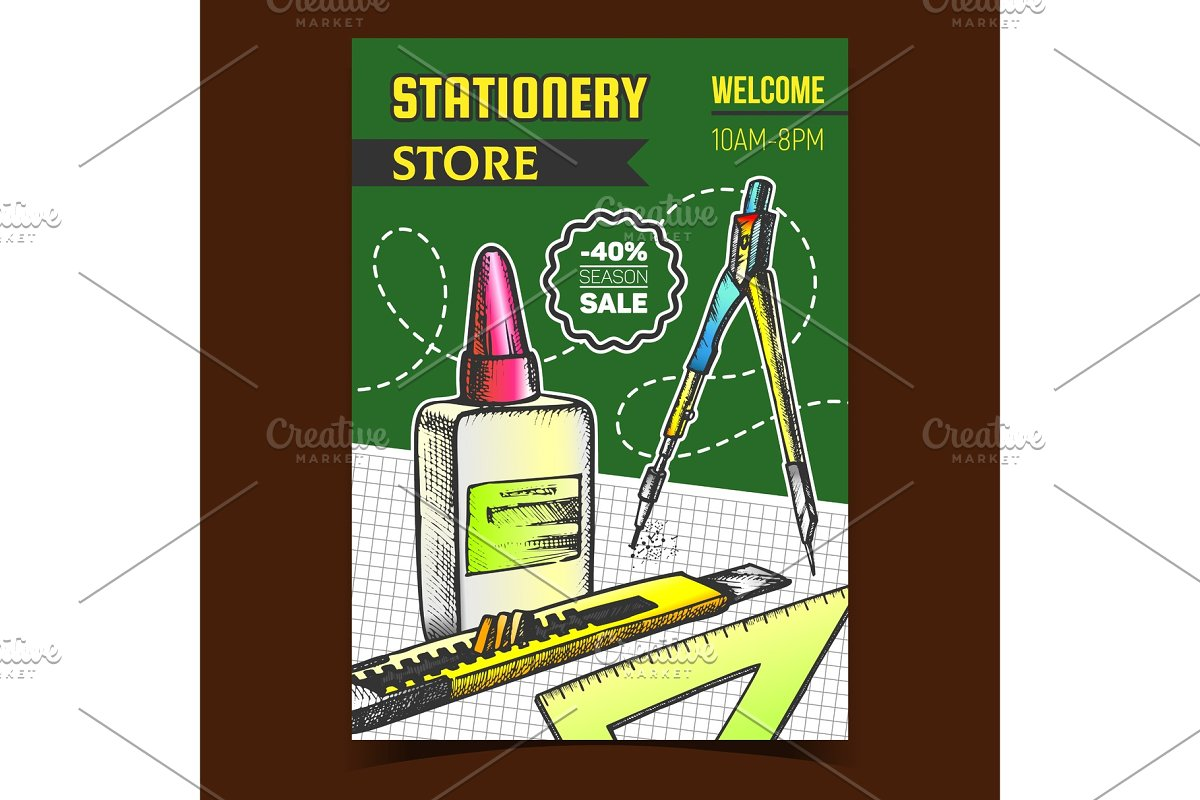 sale people stationery serious