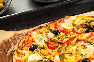 Vegetables pizza