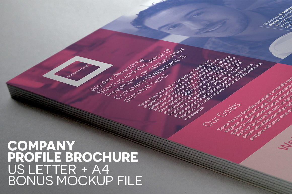 compact single page brochure brochure templates creative market