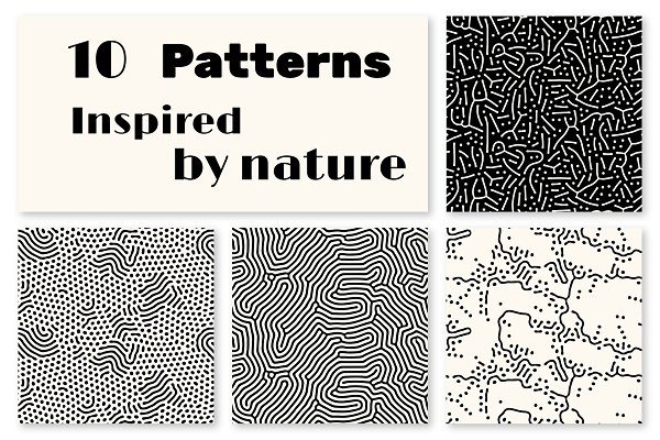 10 seamless abstract patterns
