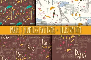 Paris: 3 Patterns + 1 Illustration