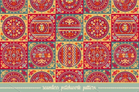 Seamless patchwork pattern. Tile. - Textures