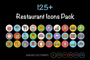 125+ Restaurant Icons Pack