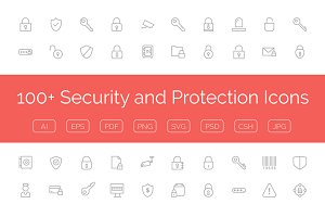 100+ Security and Protection Icons