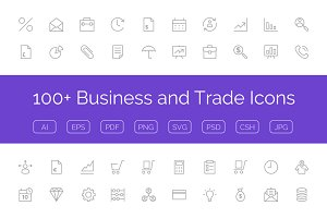 100+ Business and Trade Icons