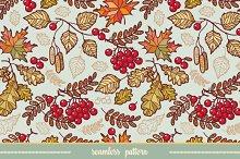 Seamless pattern. Autumn leaves.