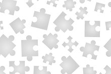 A lot of Jigsaw pieces pattern
