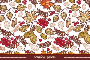 Seamless pattern. Autumn leaves.