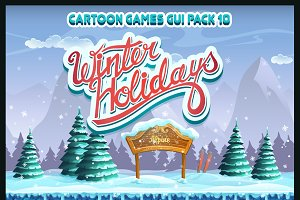 Winter holidays GUI pack 10
