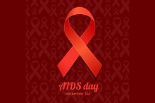 AIDS Day Card Set. Vector
