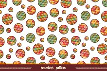 Polygonal circles. Seamless pattern.