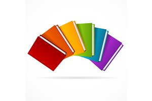 Book Stack Set. Vector