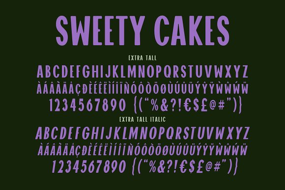 Sweety Cakes Font Family in Display Fonts - product preview 8