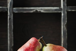 Red sweet pears