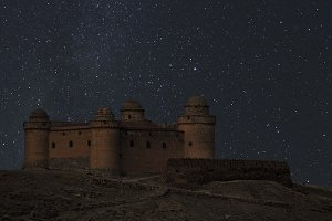 La Calahorra Castle at the starry night
