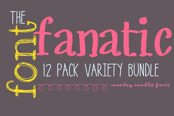 {Save 50%}-The Font Fanatic 12 Pack