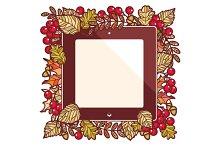 Autumn leaves. Frame.