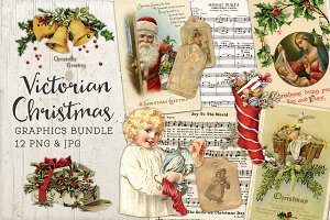 Victorian Christmas Graphics Bundle