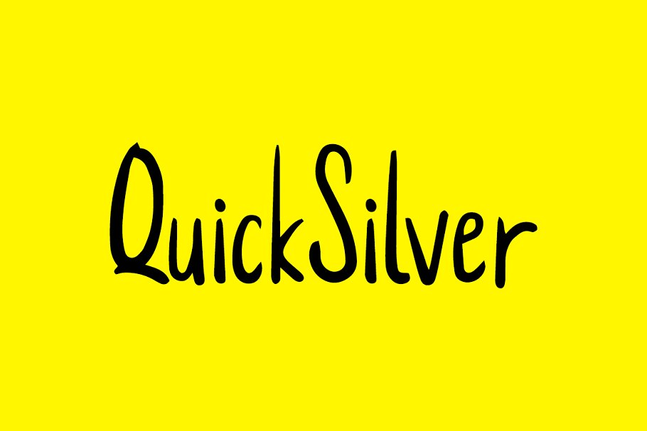 QuickSilver - Cute Handmade Font