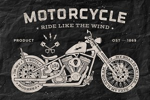 Vintage motorcycle old school style