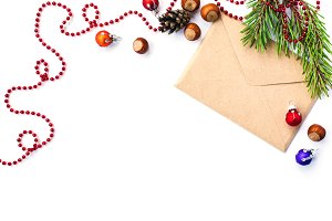 Envelope with Cristmas decorations