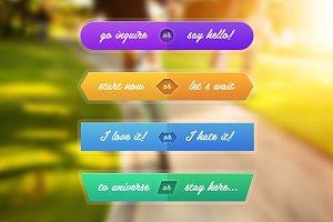 Frisk | Double Buttons Set (.psd)