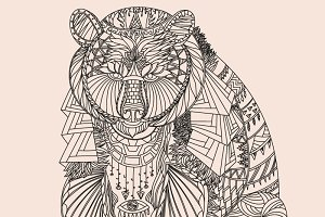 Patterned bear