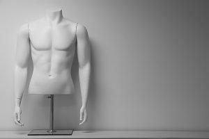 White male mannequin torso