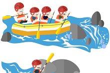 Rafting and kayaking
