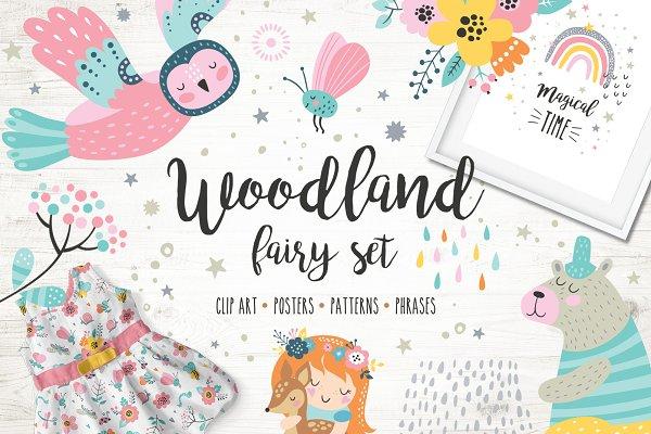 Woodland fairy set