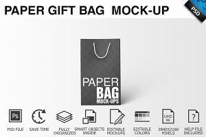 Paper Gift Shopping Bag Mockup - 2