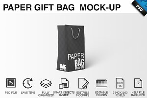 Paper Gift Shopping Bag Mockup - 3