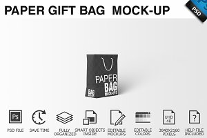 Paper Gift Shopping Bag Mockup - 5