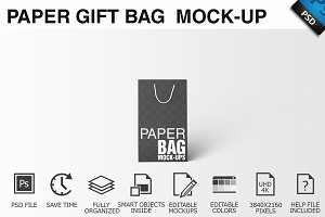 Paper Gift Shopping Bag Mockup - 10