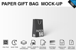 Paper Gift Shopping Bag Mockup - 11