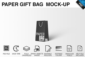 Paper Gift Shopping Bag Mockup - 12