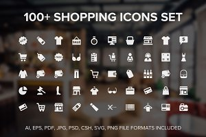 100+ Shopping Icons Set