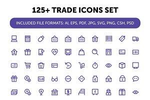 125+ Trade Icons Set