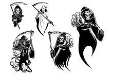 Death skeleton characters