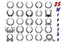 Laurel wreaths icon set