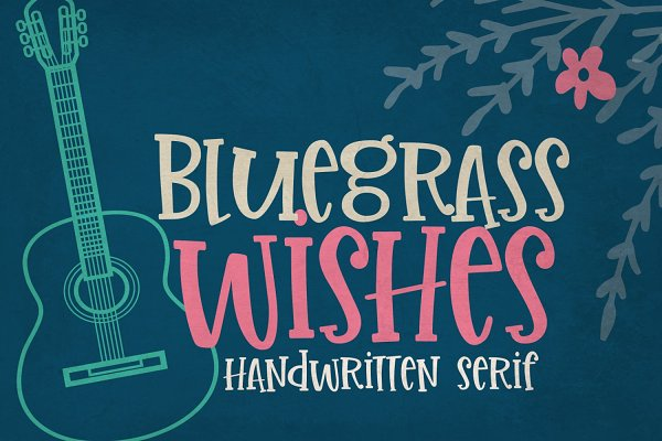 Bluegrass Wishes Handwritten Font