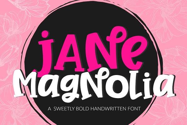 Jane Magnolia Handwritten Font