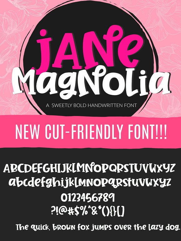 Jane Magnolia Handwritten Font in Display Fonts - product preview 7