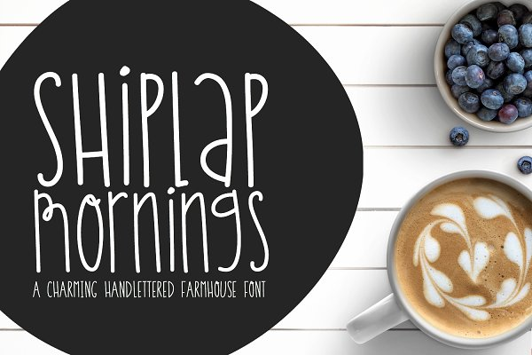 Shiplap Mornings Handwritten Font