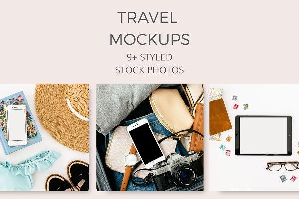 Travel Mockups (33 Styled Images)