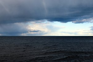 Dramatic Clouds Over Lake Superior