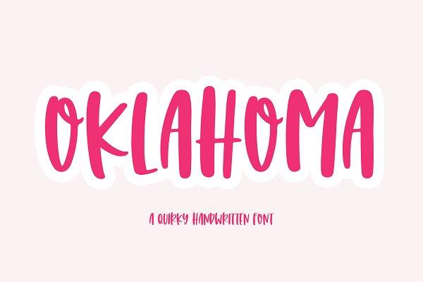 Oklahoma | Quirky Handwritten Font