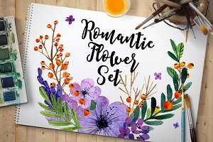 Romantic flower collection